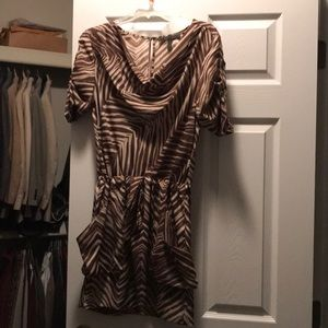 BCBG Maxazria zebra animal print dress